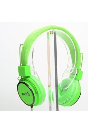 Zore Y-6338 Mp3 3.5mm Kulaklık Kulak Üstü Hd Ses Kaliteli Yeşil Renk 0