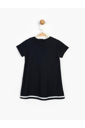 Panolino Kız Çocuk Lacivert Kısa Kol Yazlık Elbise 1