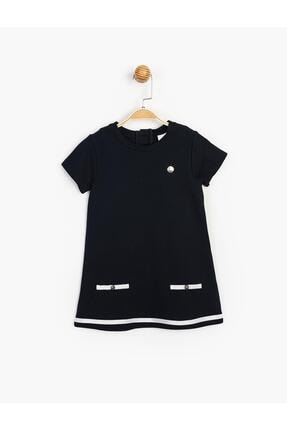 Panolino Kız Çocuk Lacivert Kısa Kol Yazlık Elbise 4