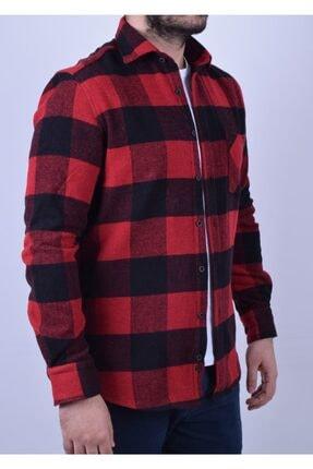 Otto Moda Erkek Kırmızı Oduncu Gömlek 2