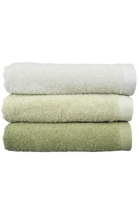 Çeyiz Diyarı Transition 3 Lü Pamuklu Banyo Havlu Takımı - Yeşil 0