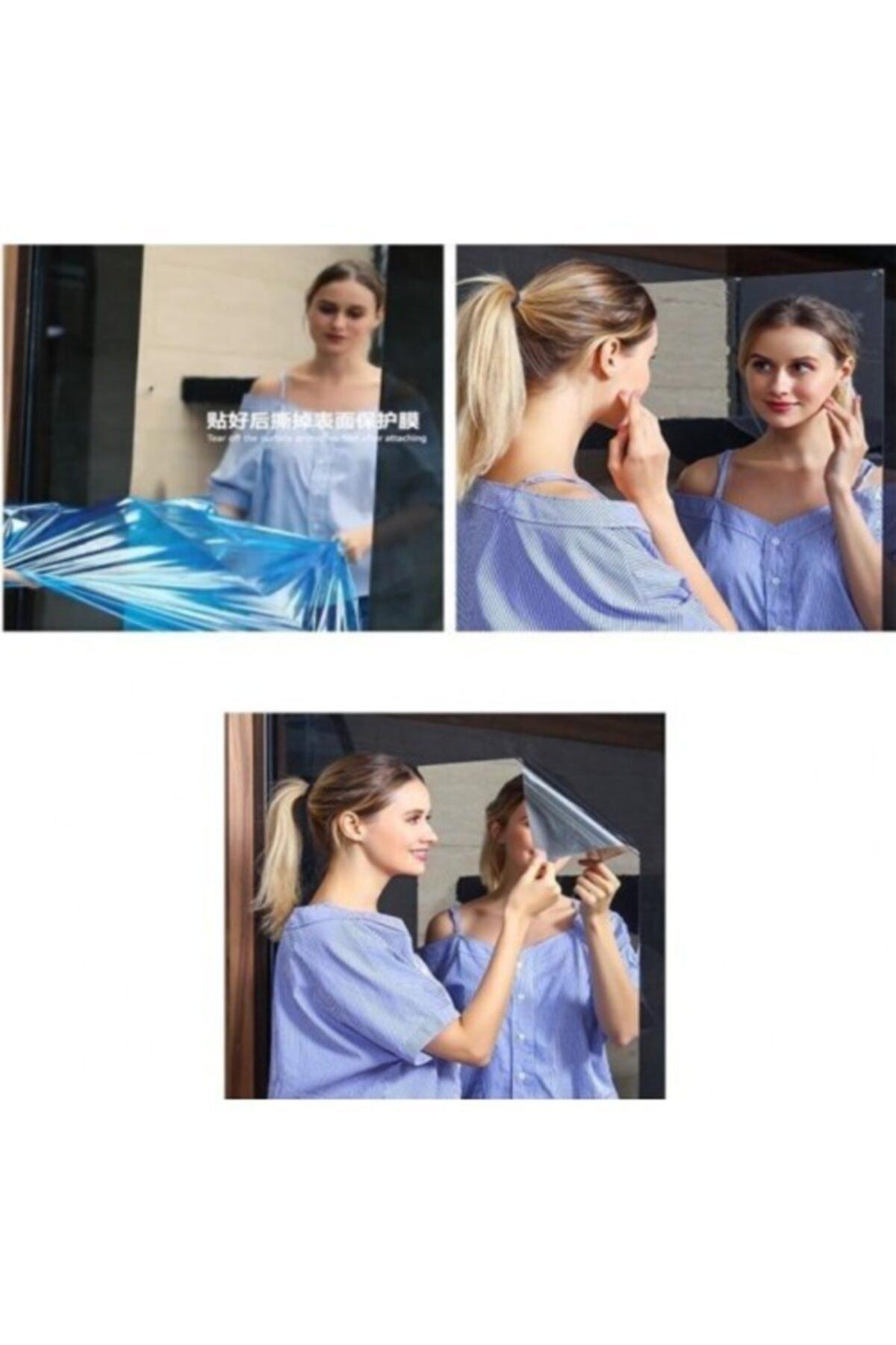 Trend Sanal Yapışkanlı Folyo Ayna 100 X 50 cm Dekoratif Folyo Kendinden Yapışkanlı