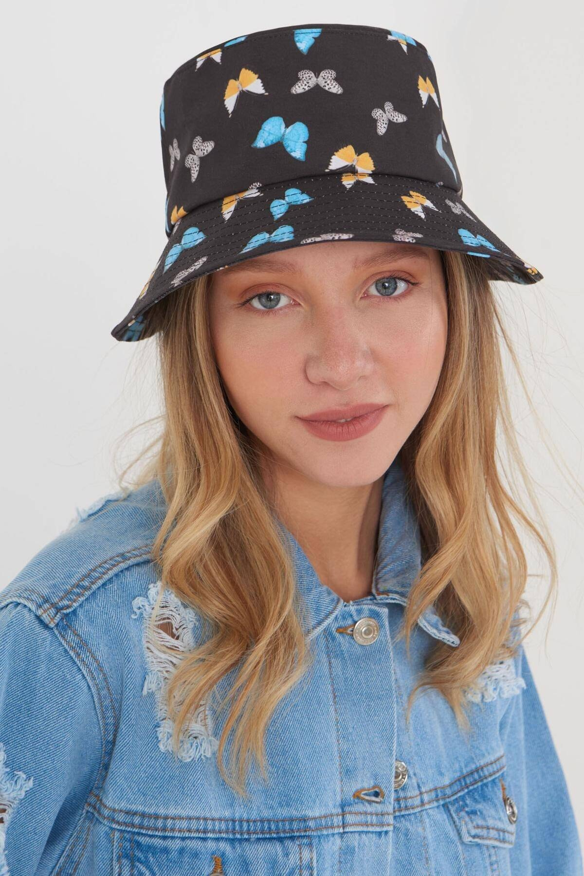 Addax Kadın Siyah Mavi Şapka Şpk1045 - E1 Adx-0000023856 1