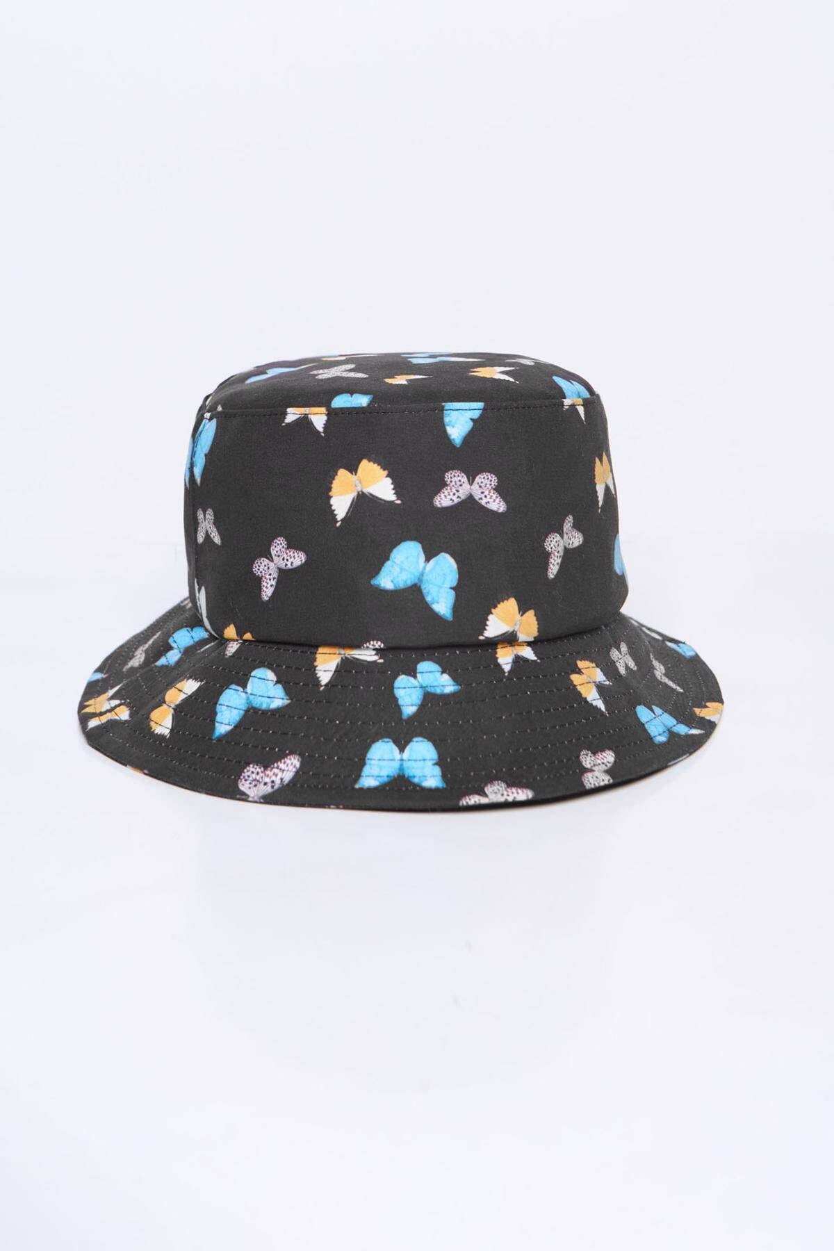 Addax Kadın Siyah Mavi Şapka Şpk1045 - E1 Adx-0000023856 2