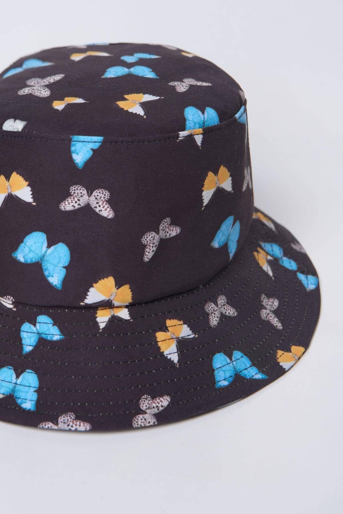 Addax Kadın Siyah Mavi Şapka Şpk1045 - E1 Adx-0000023856 4