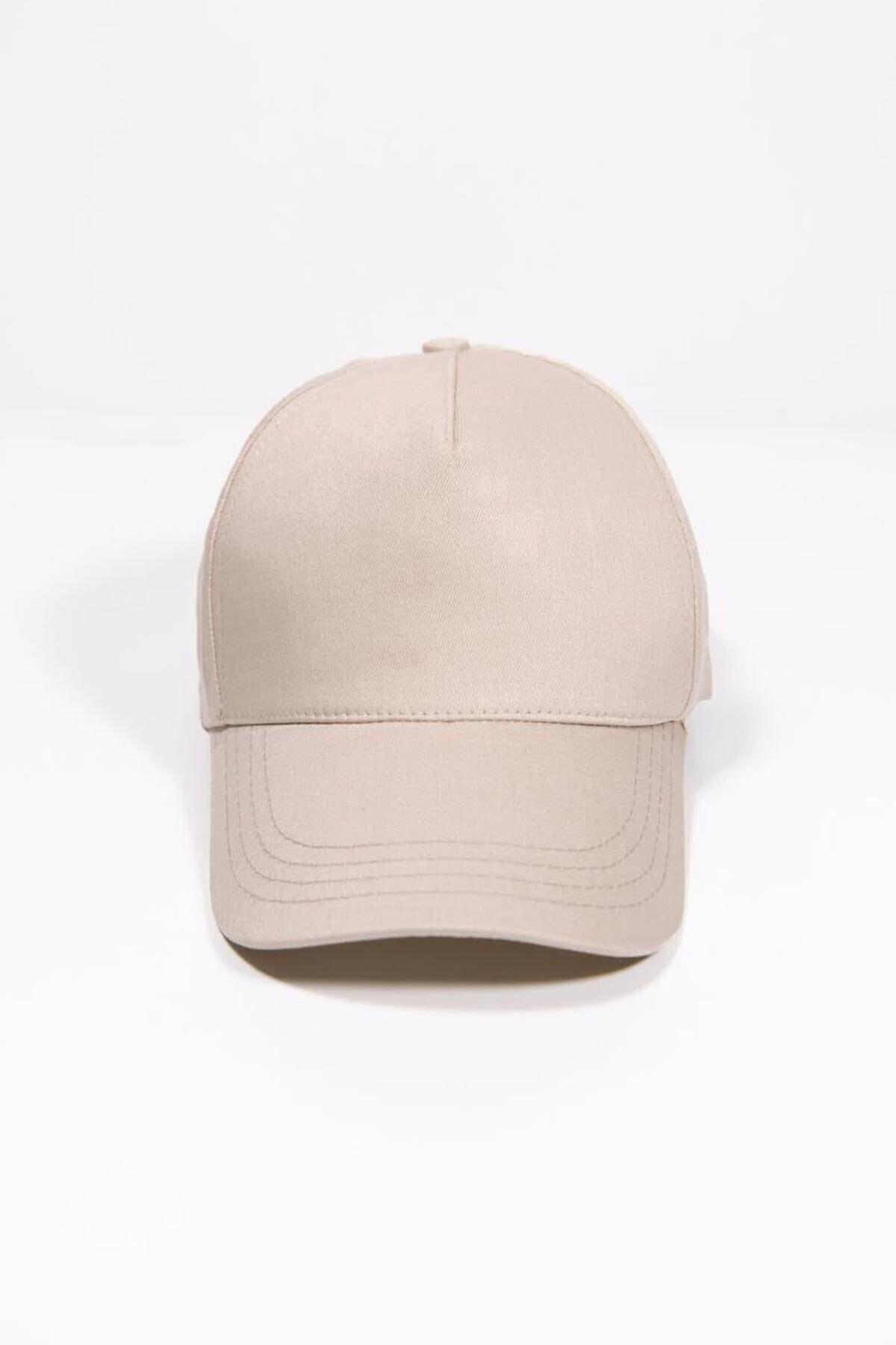 Addax Kadın Bej Unisex Şapka Şpk1007 - F1 Adx-0000022027 3