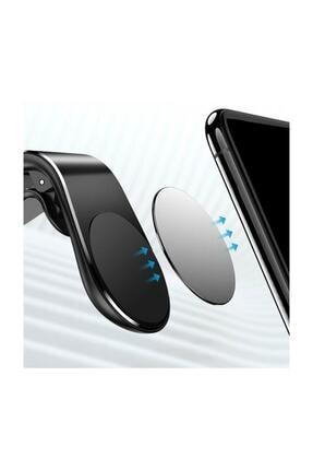 Etech Polygold Mıknatıslı Siyah Araç Içi Telefon Tutucu 2