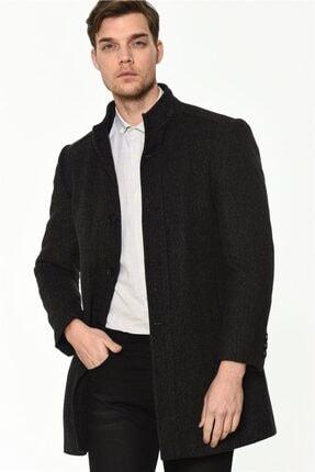 Erkek Antrasit Palto Noktalı Palto resmi