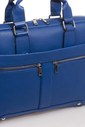 Sergio Giorgianni Luxury Mpist9141 Belinda Mavi Unısex Evrak Çantası 3