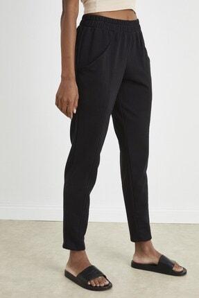 Curly Store Siyah Dar Paça Jogger Pantolon 1