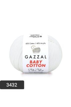 Gazzal Baby Cotton Amigurumi Ipi El Örgü Ipi Punch Ipi 50 gr 3432 0