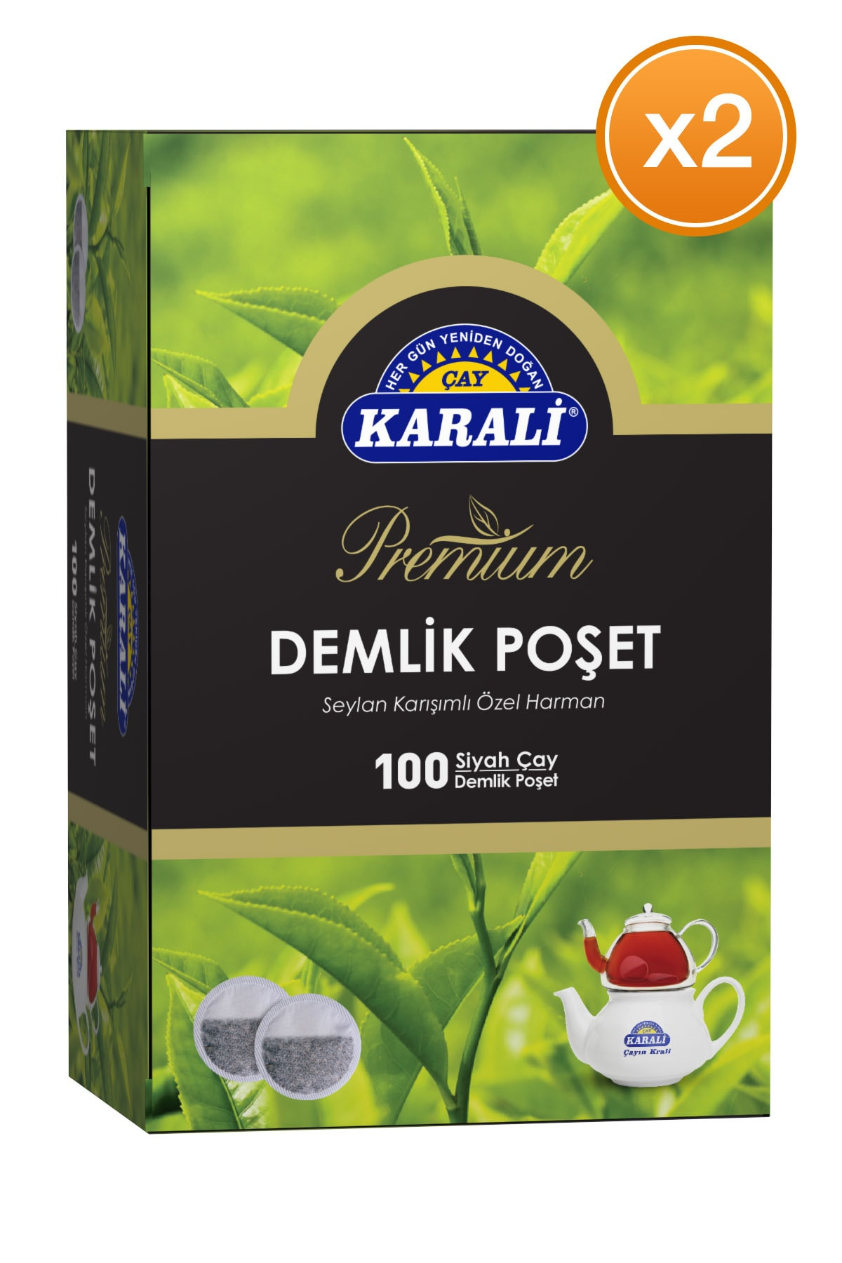 Karali Premium Demlik Poşet Siyah Çay 100x3,2 gr X 2 Adet
