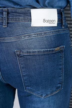 Sateen Men Erkek Lacivert Slimfit Denim Pantolon 2