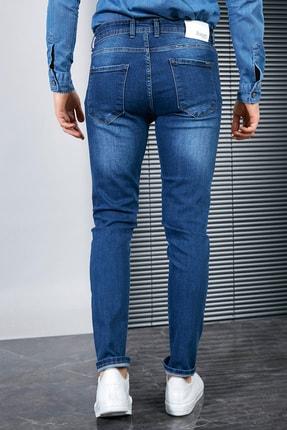 Sateen Men Erkek Lacivert Slimfit Denim Pantolon 3