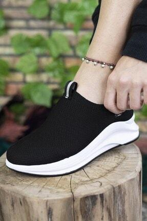 Riccon Siyah Beyaz Kadın Sneaker 00121805 1