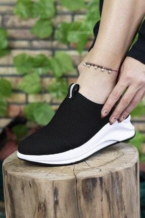 Riccon Siyah Beyaz Kadın Sneaker 00121805 2