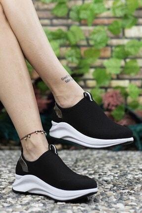 Riccon Siyah Beyaz Kadın Sneaker 00121805 3