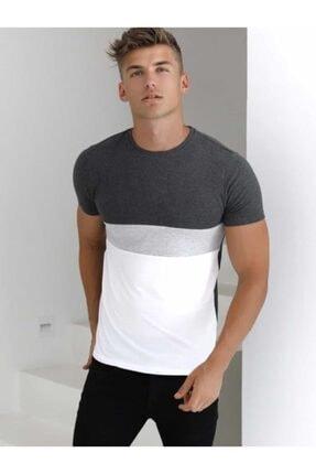 Rise fashion Erkek Gri T-shirt 0