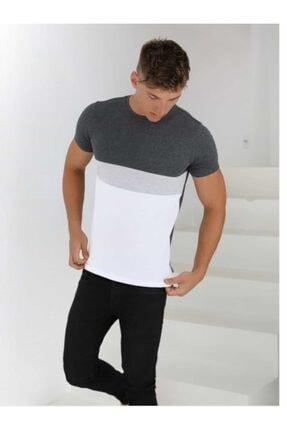 Rise fashion Erkek Gri T-shirt 2