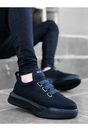 Erbilden Erkek Yüksek Taban Siyah Spor Ayakkabı 1