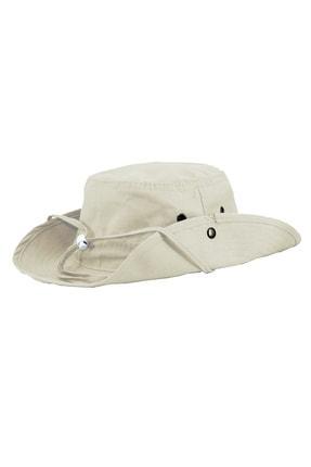 SOLİSTO Safari Şapka Krem 1
