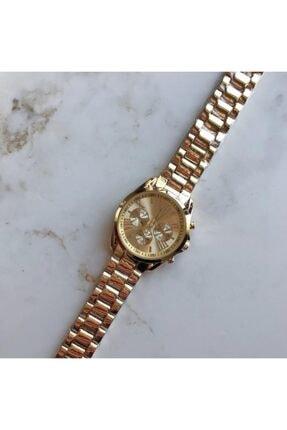 OQQO Kadran Tasarımlı Metal Altın Kadın Kol Saati 3