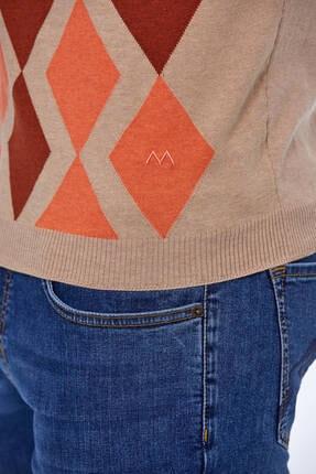 Hemington Erkek Bej Baklava Desen  Triko Polo T-shirt 3