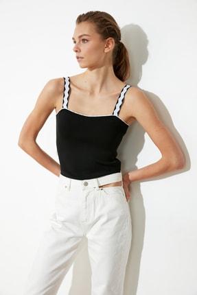 TRENDYOLMİLLA Siyah Askılı Triko Bluz TWOSS21BZ0107 0