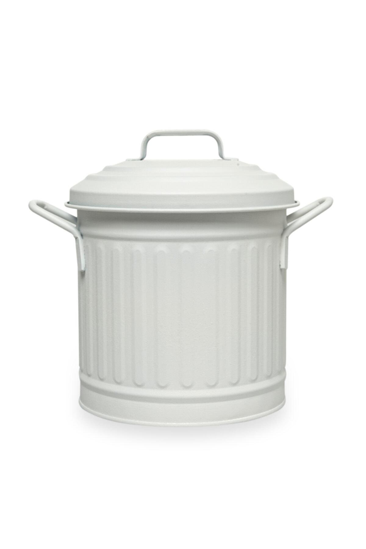 Beyaz Tezgah Çöp Kovası 4 l