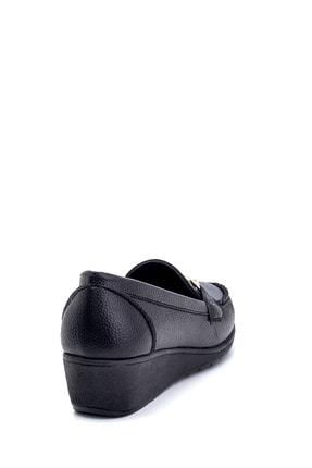 Derimod Kadın Siyah Dolgu Topuklu Loafer Ayakkabı 4