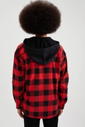 Defacto Oversize Fit Kapüşonlu Uzun Kollu Gömlek 3