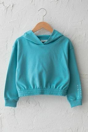 LC Waikiki Kız Çocuk Mat Turkuaz Gdc Sweatshirt 0