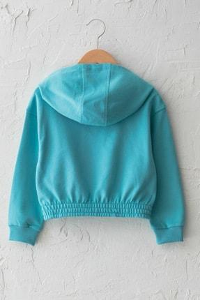 LC Waikiki Kız Çocuk Mat Turkuaz Gdc Sweatshirt 1