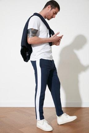 TRENDYOL MAN Lacivert Erkek Regular Fit Şeritli Eşofman Altı TMNSS20EA0012 0