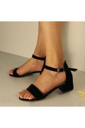 SerraTrend Jeune Tek Bant Bilekten Bağlı Düşük Topuklu Süet Ayakkabı 1
