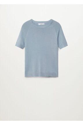 Mango Kadın Mavi Bluz 2