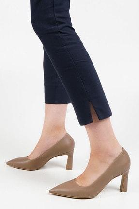 Marjin Kadın Vizon Stiletto Topuklu Ayakkabı Akuna 0
