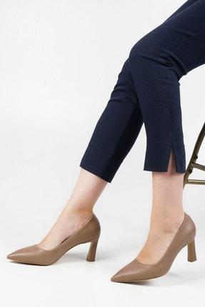 Marjin Kadın Vizon Stiletto Topuklu Ayakkabı Akuna 2
