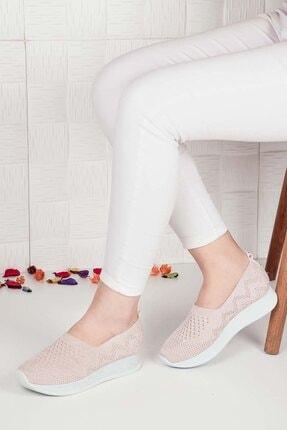 Weynes Kadın Krem Triko Günlük Ayakkabı Ba20500 1
