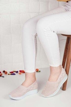 Weynes Kadın Krem Triko Günlük Ayakkabı Ba20500 2
