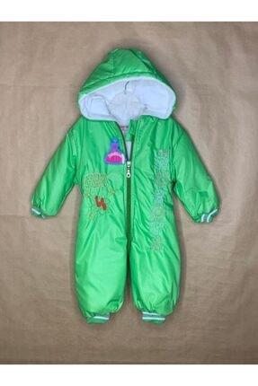 Kız Çocuk Yeşil Kapüşonlu Astronot Tulum 000070