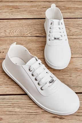 Bambi Beyaz Kadın Casual Ayakkabı K01543400109 0