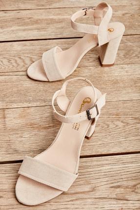 Bambi Bej Kadın Klasik Topuklu Ayakkabı K05503740072 0