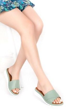 Gondol Kadın Yeşil Ortopedik Taban Terlik 0