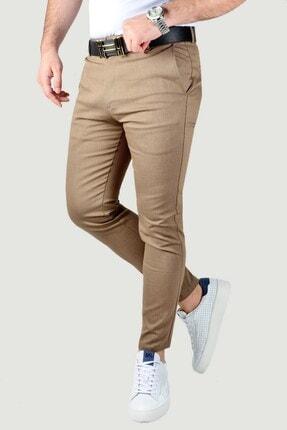 Terapi Men Erkek Keten Pantolon 20k-2200341 Kahverengi 2