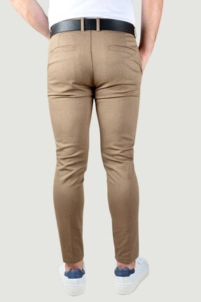 Terapi Men Erkek Keten Pantolon 20k-2200341 Kahverengi 4