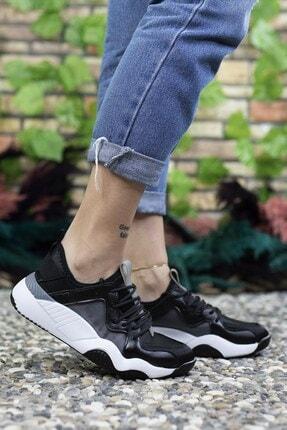 Riccon Kadın Siyah Sneaker 0012103 2