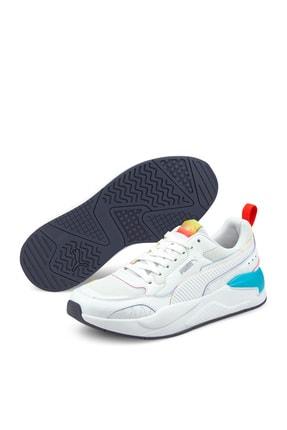 Puma X-RAY² SQUARE RAINBOW Beyaz Erkek Sneaker Ayakkabı 101085338 0