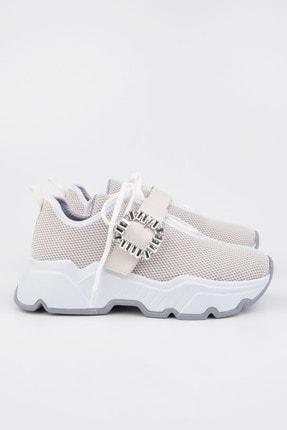 Marjin Kadın Beyaz Sneaker Ayakkabı Baruba 0