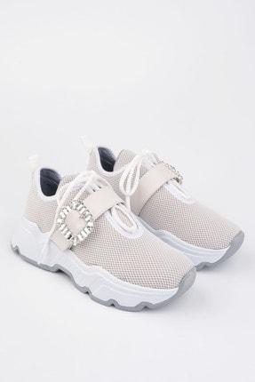Marjin Kadın Beyaz Sneaker Ayakkabı Baruba 2